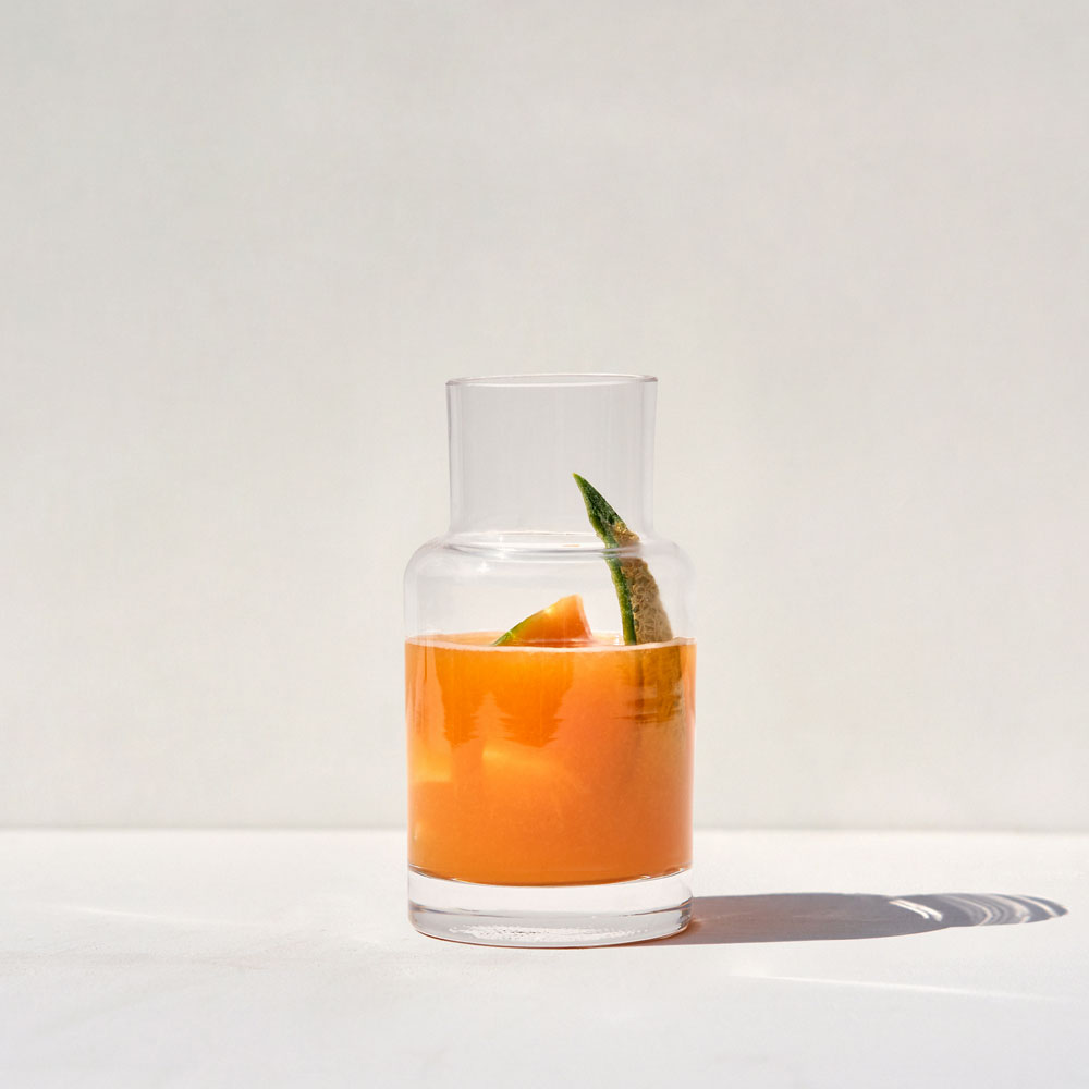 SCENTED CANDLE REFILL - MELON and BASIL