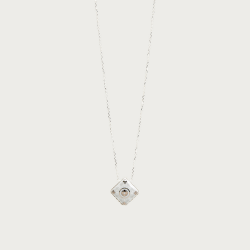 Silver necklace - casteu gray