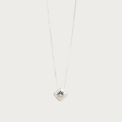 Silver necklace - tame gray