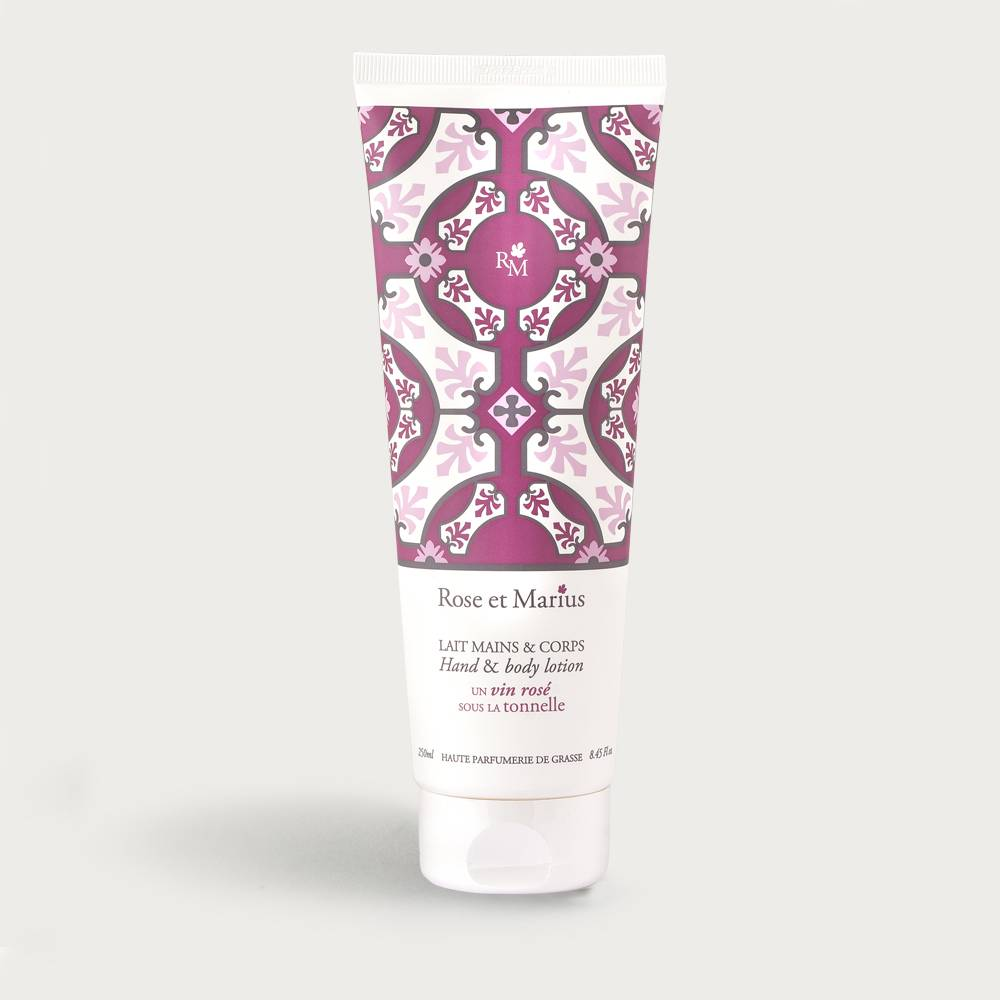Hand and body lotion - A rosé wine under the arbour