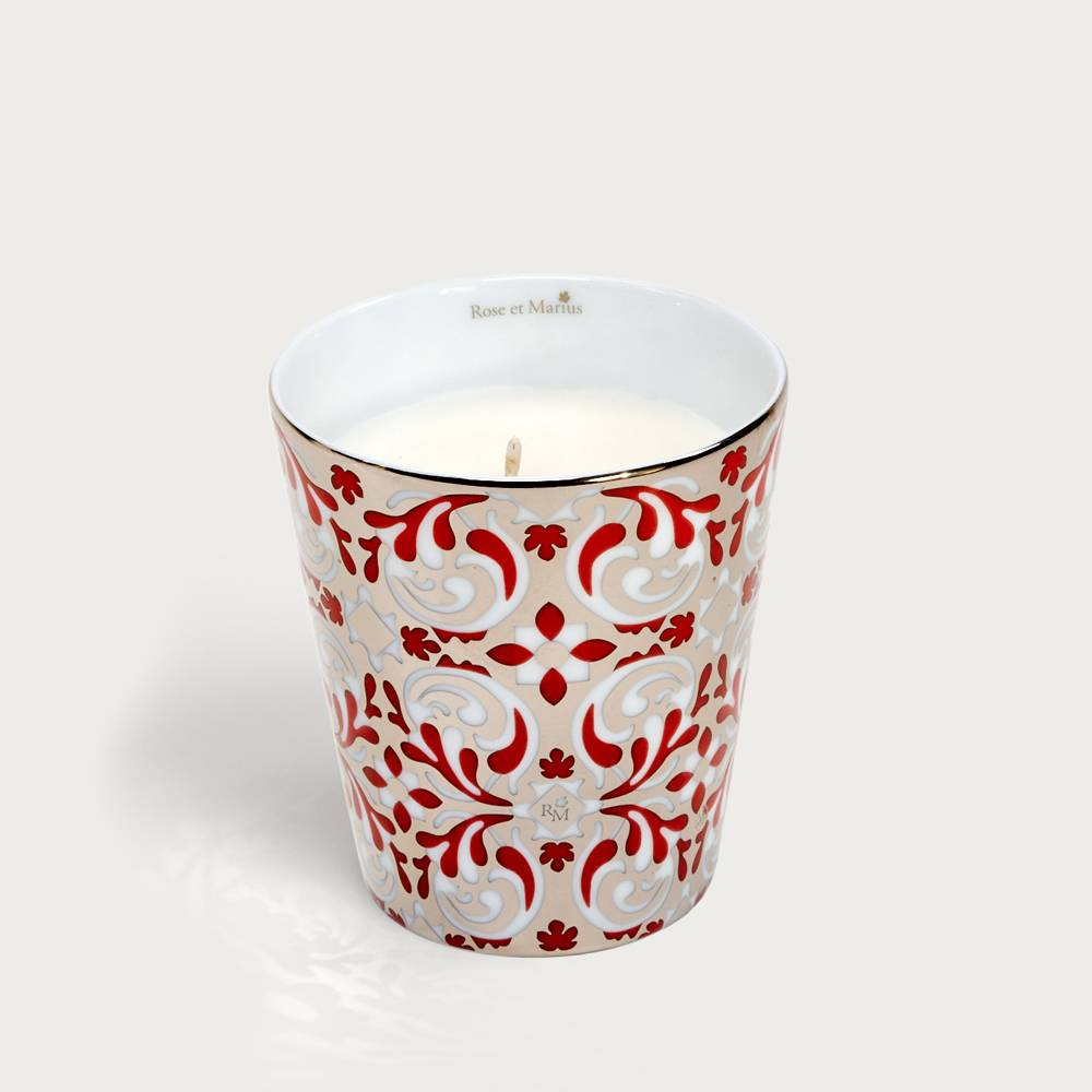 Precious refillable candle - oustau platinum red