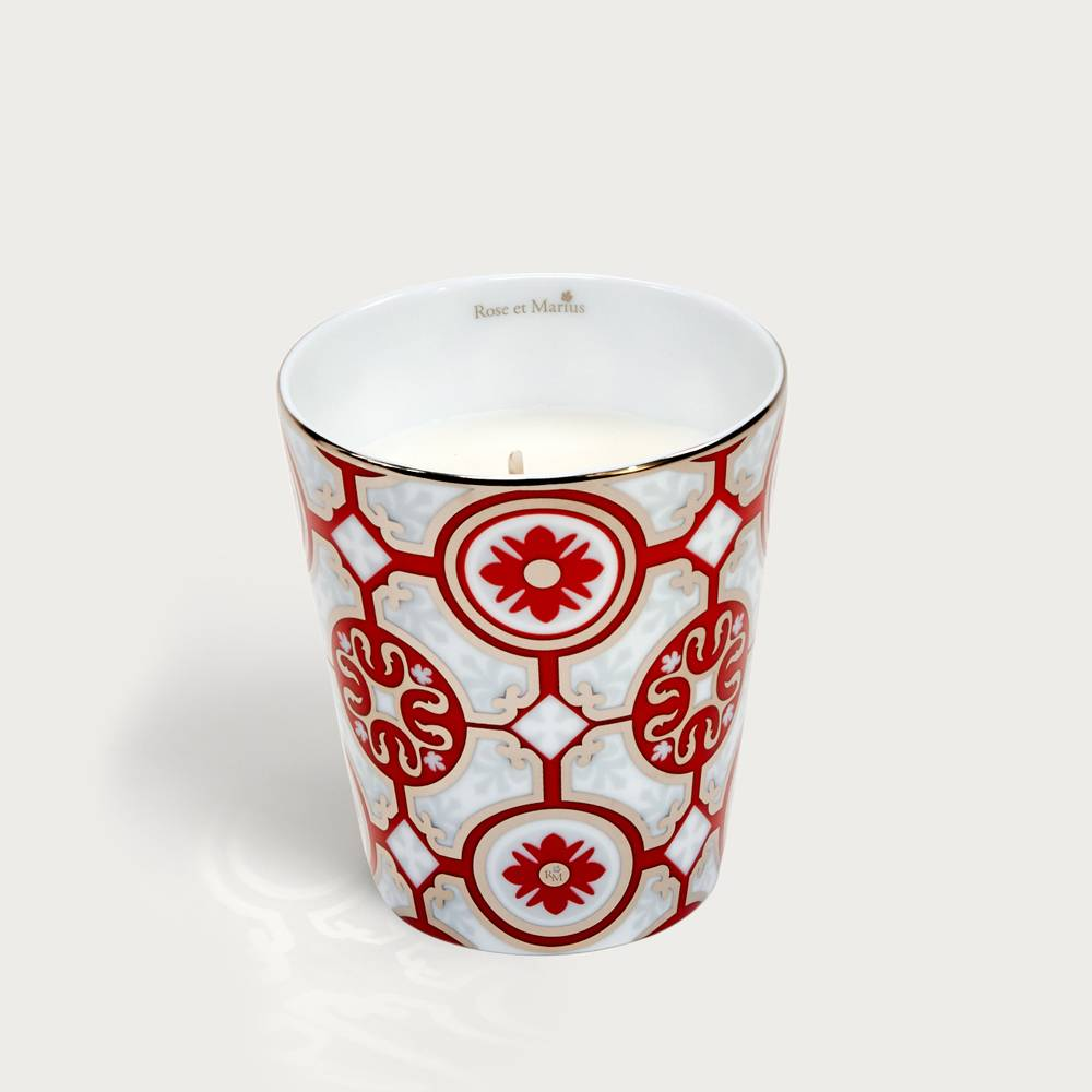 Precious refillable candle - casteu red