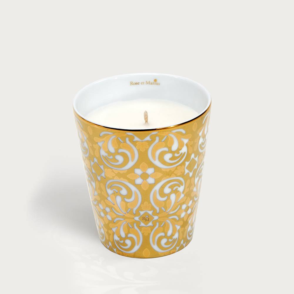 Precious refillable candle - Oustau gold
