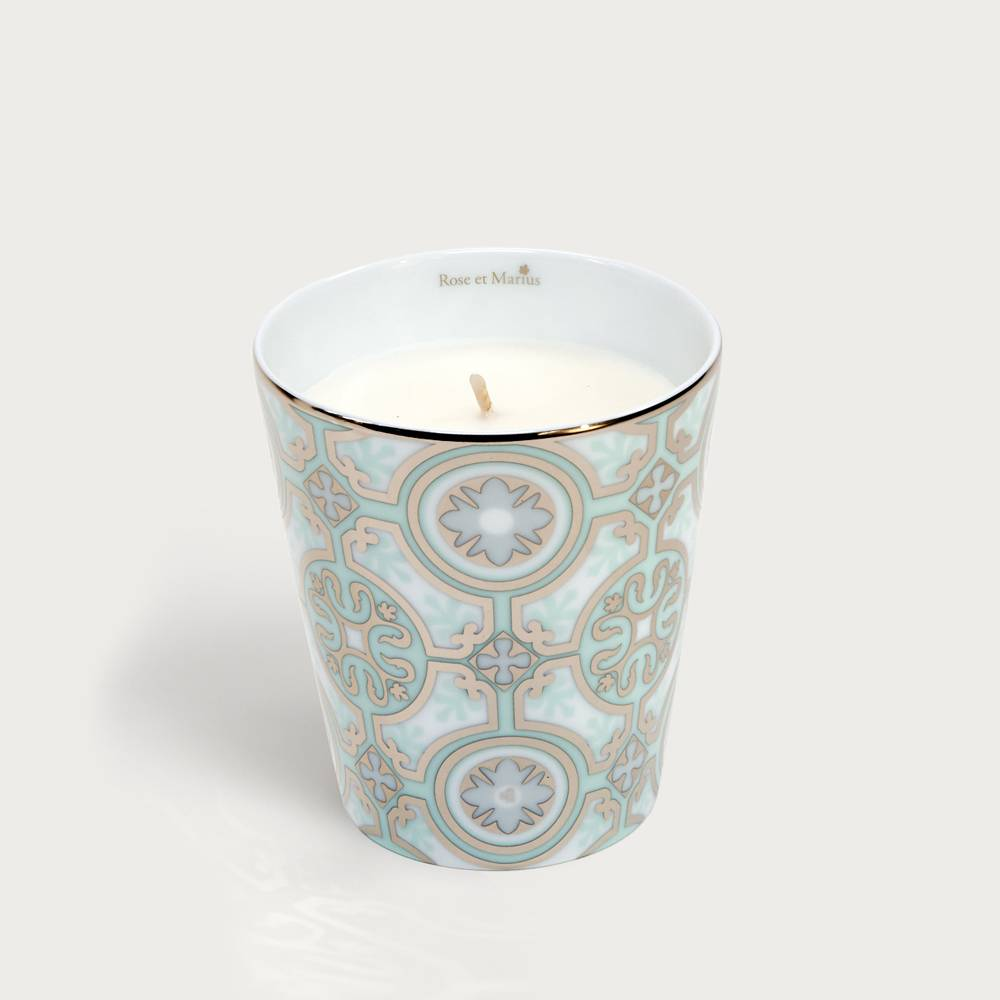 Precious refillable candle - casteu green