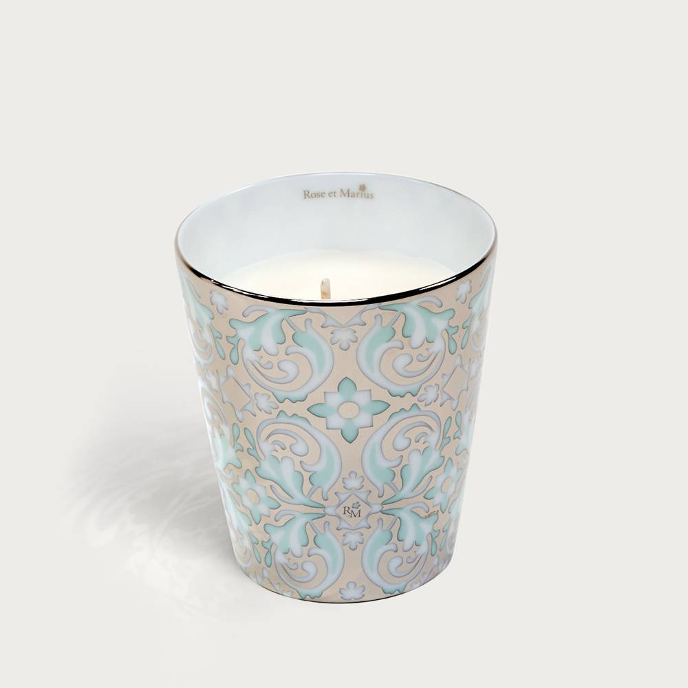 Precious refillable candle - oustau green