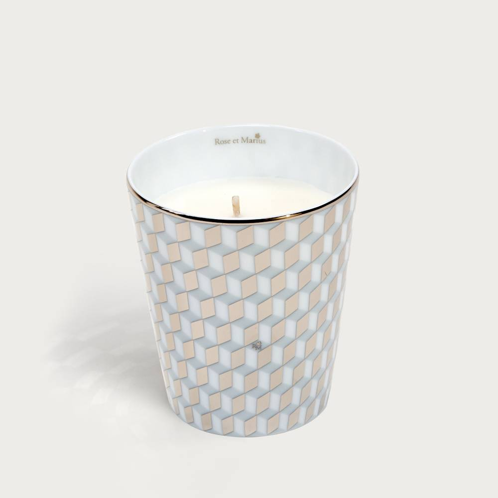 Precious refillable candle - mini tometo gray