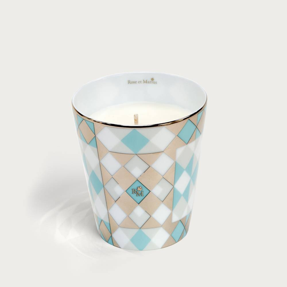 Precious refillable candle - souleu turquoise