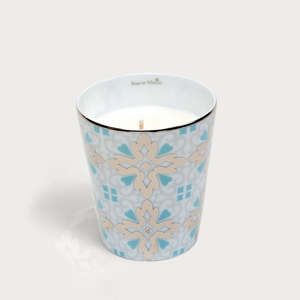 Precious refillable candle - tame turquoise