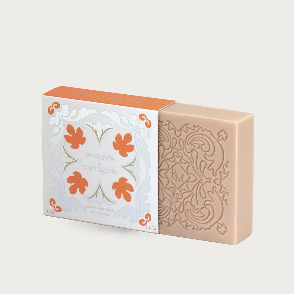 Natural soap - early morning in the orange grove