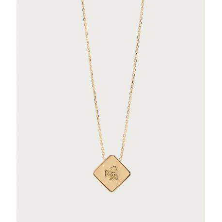 Gold 750 necklace - tame gold