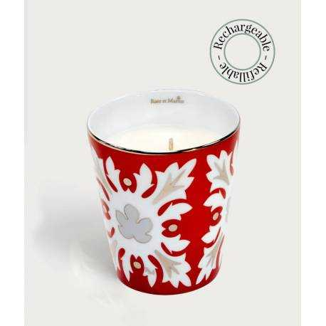 Precious refillable candle - capello red