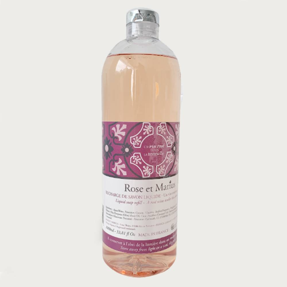 Natural liquid soap refill - A rosé wine under the arbour
