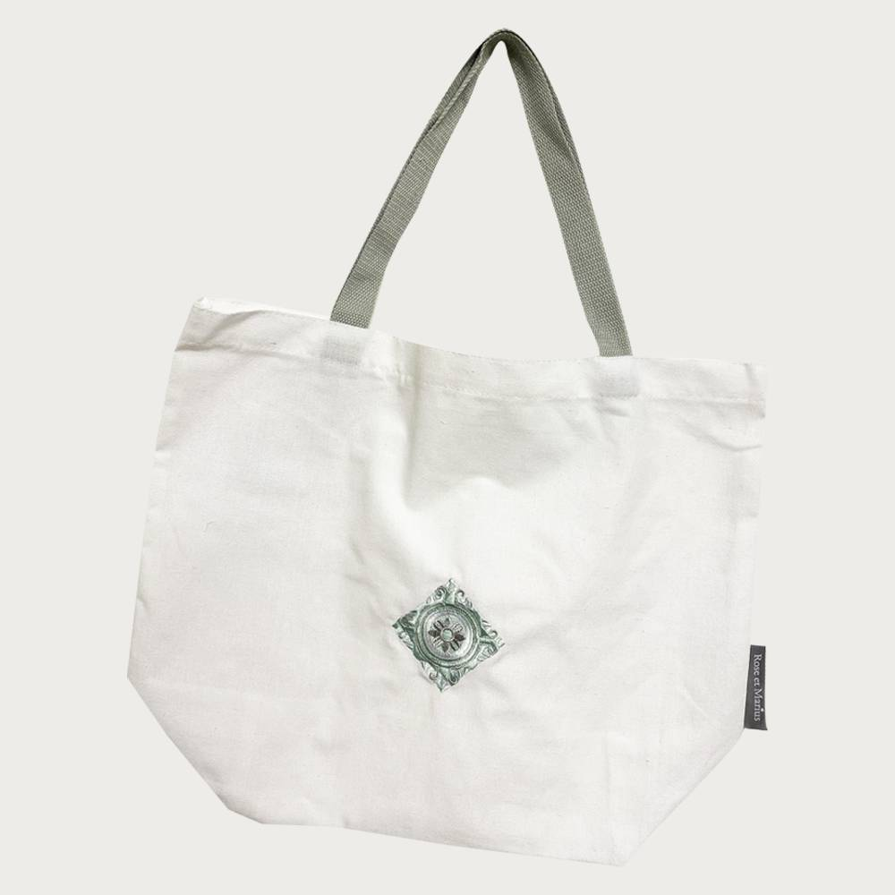 The embroidered tote bag