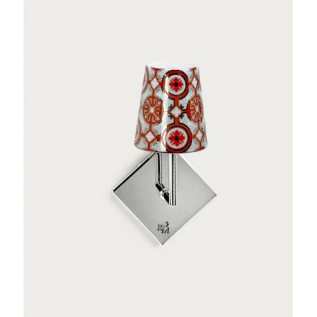 APPLIQUE LOURMARIN Chrome - Abat-jour CASTEU ROUGE