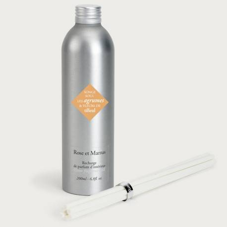 Home fragrance diffuser refill - Dream under citrus fruits and linden flowers
