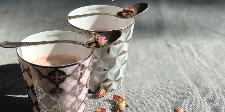 dessert à l'eau de rose
