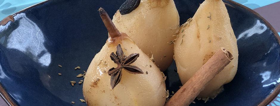 dessert diététique aux poires