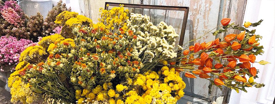 Bouquet de fleurs séchées sur mesure